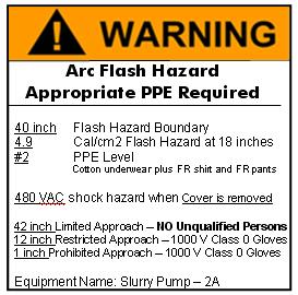 What is an Arc Flash Hazard Warning Label?
